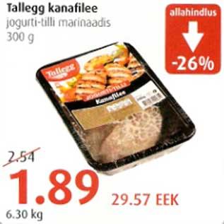 Allahindlus - Talleggi kanafilee jogurti-tilli marinaadis