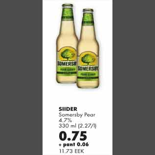 Allahindlus - Siider Somersby Pear