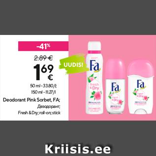 Allahindlus - Deodorant Pink Sorbet, FA