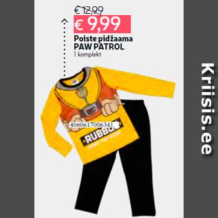 29a0a33526c Poiste pidžaama PAW PATROL 1 komplekt - Allahindlus - Hüper Rimi ...