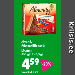 Allahindlus - Almondy Mandlikook Daim 400 g