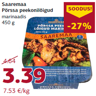 Allahindlus - Saaremaa Pörssa peekonilõigud