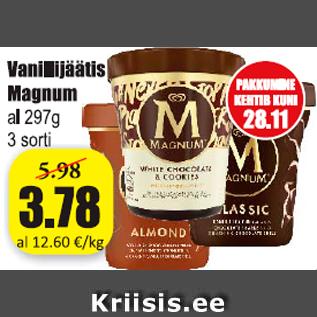 Allahindlus - Vanillijäätis Magnum