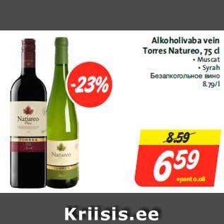 6b7c9287aa8 Alkoholivaba vein Torres Natureo, 75 cl - Allahindlus - Hüper Rimi ...