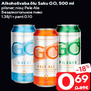 Allahindlus - Alkoholivaba õlu Saku GO, 500 ml