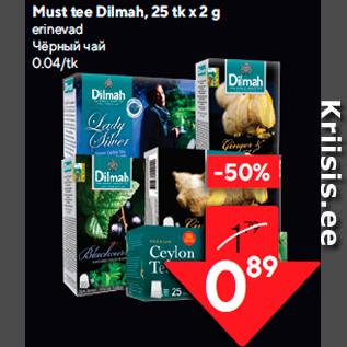 Allahindlus - Must tee Dilmah, 25 tk x 2 g
