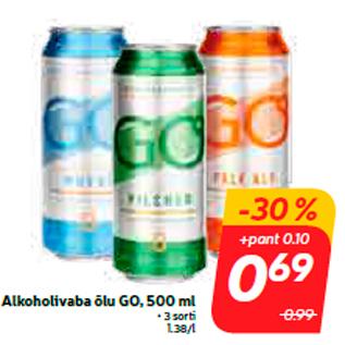 Allahindlus - Alkoholivaba õlu GO, 500 ml