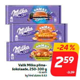 Allahindlus - Valik Milka piimašokolaade, 250-300 g