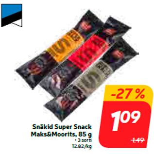Allahindlus - Snäkid Super Snack Maks&Moorits, 85 g