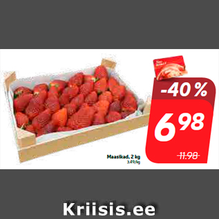 Allahindlus - Maasikad, 2 kg