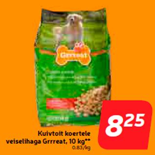 Allahindlus - Kuivtoit koertele veiselihaga Grrreat, 10 kg**