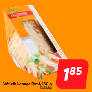Allahindlus - Võileib kanaga Rimi, 150 g