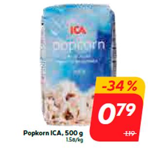 Allahindlus - Popkorn ICA, 500 g