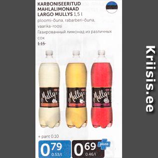 Allahindlus - KARBONISEERITUD MAHLALIMOHAAD LARGO MULLYS 1,5 L