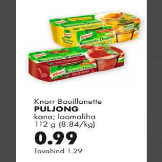 Allahindlus - Knorr Bouillonette puljong