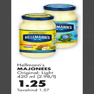 Allahindlus - Hellmann`s majonees