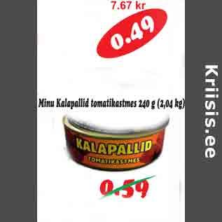 Allahindlus - Minu kalapallid tomatikastmes 240 g