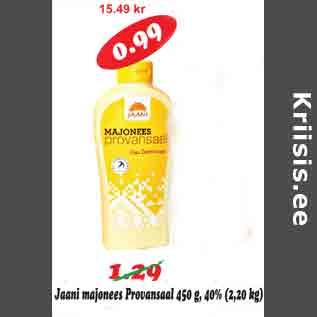 Allahindlus - Jaani majonees Provansaal 450 g, 40%