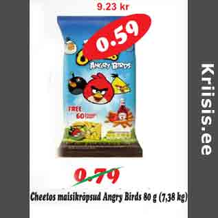 Allahindlus - Cheetos maisikrõpsud Angru Birds 80 g