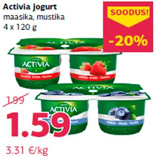 Allahindlus - Activia jogurt