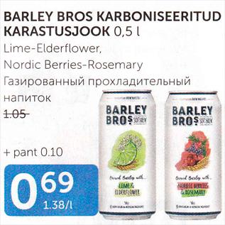 Allahindlus - BARLEY BROS KARBONISEERITUD KARASTUSJOOK 0,5 L