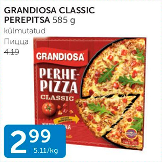 Allahindlus - GRANDIOSA CLASSIC PEREPITSA 585 G
