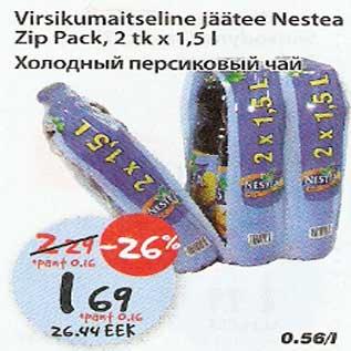 Allahindlus - Virsikumaitseline jäätee Nestea Zip Pack