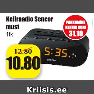 Allahindlus - Kellraadio Sencor must 1 tk