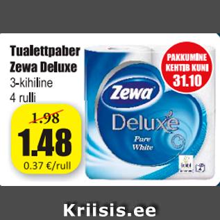 Allahindlus - Tualettpaber Zewa Deluxe