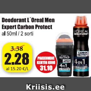Allahindlus - Deodorant L´Oreal Men Expert carbon Protect