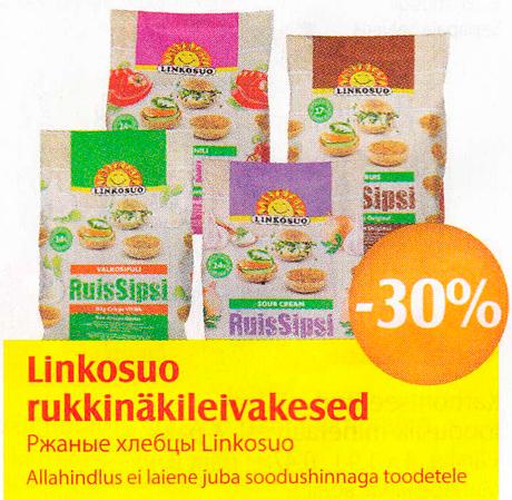 Linkosuo rukkinäkkileivakesed  -30%