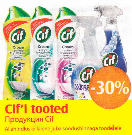 Cif´i tooted  -30%