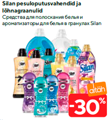 Silan pesuloputusvahendid ja lõhnagraanulid  -30%