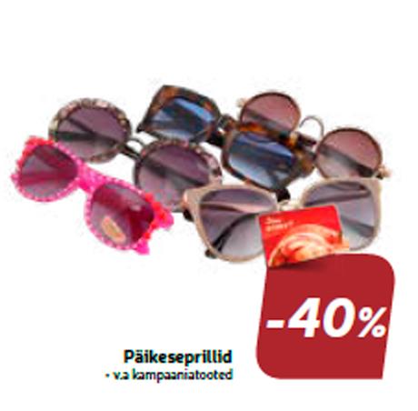 Päikeseprillid  -40%