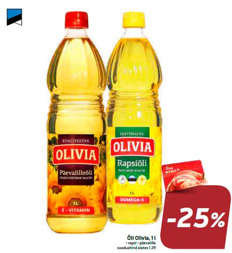 Õli Olivia, 1 l  -25%