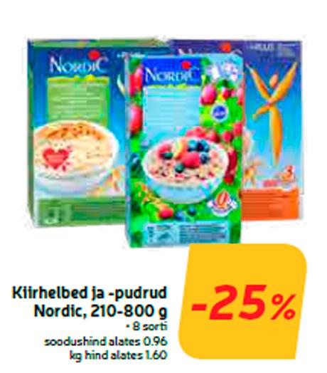 Kiirhelbed ja -pudrud Nordic, 210-800 g  -25%