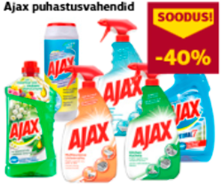 Ajax puhastusvahendid  -40%