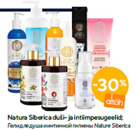 Natura Siberica duši- ja intiimpesugeelid  -30%
