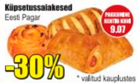 Küpsetussaiakesed  -30%