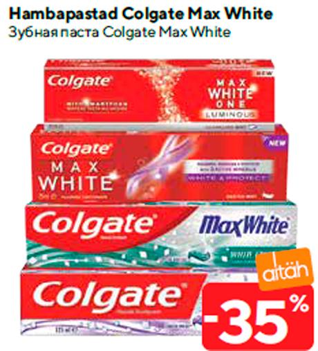 Hambapastad Colgate Max White -35%