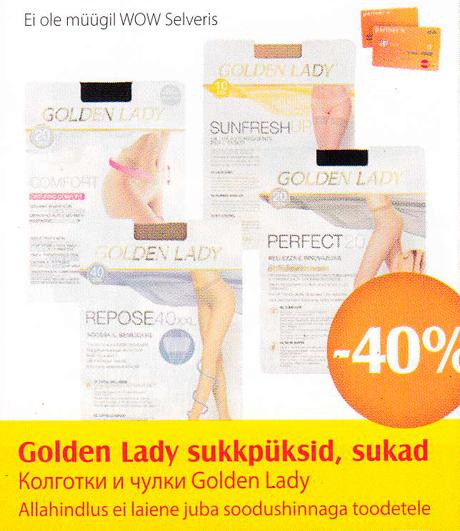 Golden Lady sukkpüksid, sukad  -40%