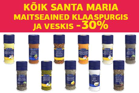 KÕIK SANTA MARIA MAITSEAINED KLAASPURGIS JA VESKIS -30%