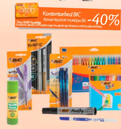 Kontoritarbed BIC -40%