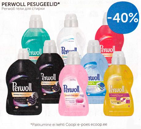 PERWOLL PESUGEELID*  -40%