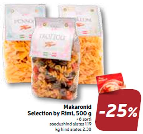 Выбор макарон  Rimi, 500 г  -25%