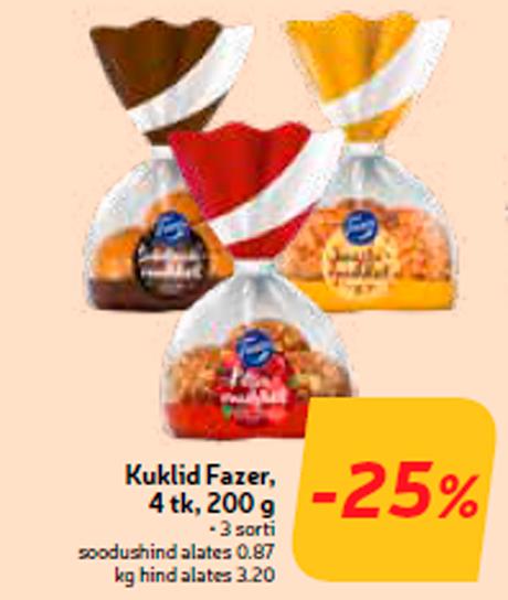 Булочки Fazer, 4 тк, 200 г  -25%
