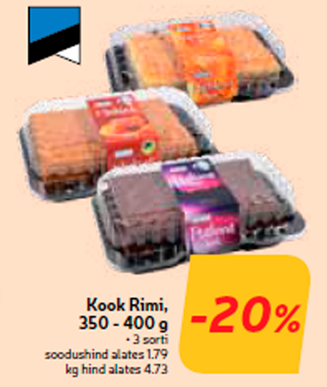 Торт Rimi, 350 - 400 г  -20%