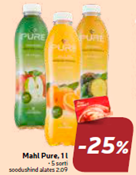 Сок   Pure, 1 л  -25%