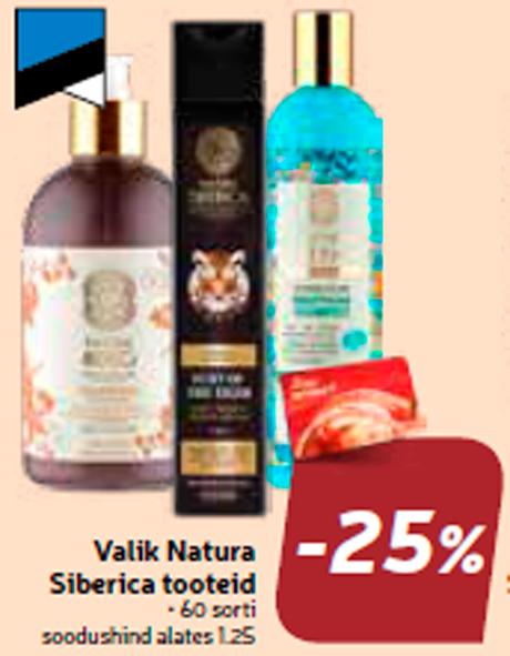 Valik Natura Siberica tooteid  -25%