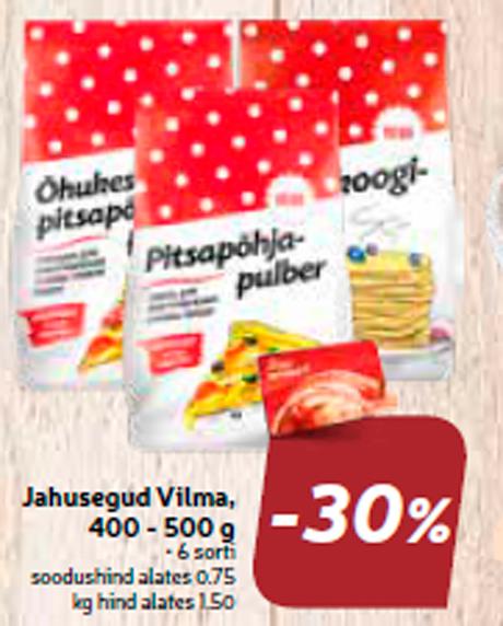 Мучные смеси Vilma, 400 - 500 г  -30%